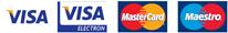 Vi tager Visa, Visa Electron, MasterCard og Maestro