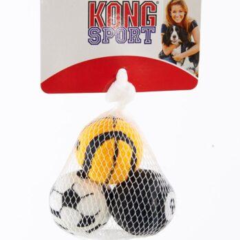 3 små tennisbolde i net