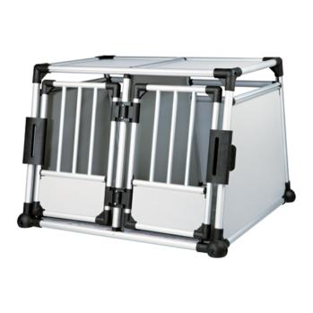 dobbelt aluminiumsbur transportboks