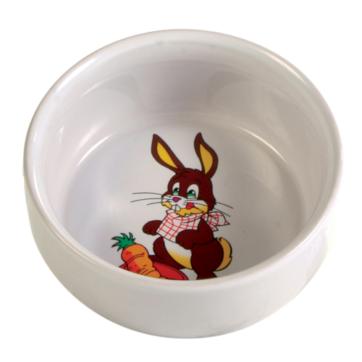 kaninskål med motiv