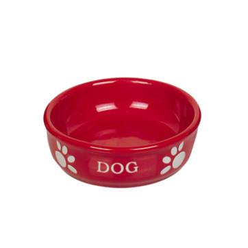 keramikskål lille rød