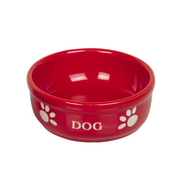 keramikskål medium rød