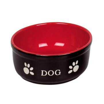 keramikskål 15,5 cm sort og rød