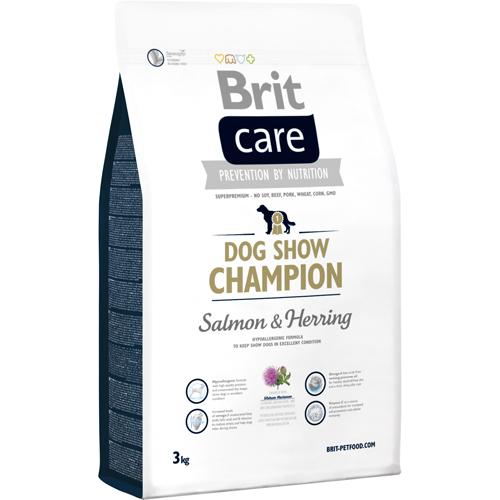 Brit care dog show champion er hundefodre som hjælper konkurrence hunden.