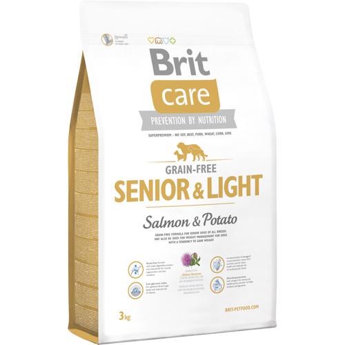 Brit care kornfri senior & light er tilpasset ældre og/eller som skal passe på vægten