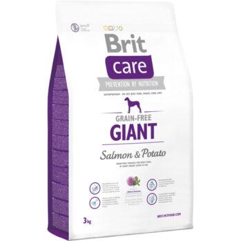 Brit care kornfri giant er hundefoder som er specielt tilpasset hunde, der vejer over 45 kg.