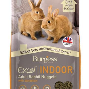 Burgess kaninfoder indendørs.