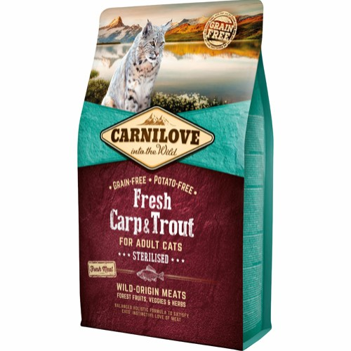 Carnilove Sterilised karpe og ørred 6 kg.