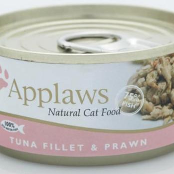 Applaws Vådfoder til kat med tun og rejer