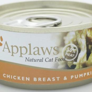 Applaws Vådfoder til kat med kylling og græskar