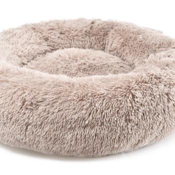 Donut seng anti stress lysebrun ø100 cm