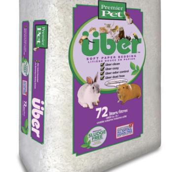 Papirstrøelse UBER 72 ltr hvid