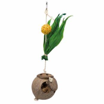 Kokosnød på sisalreb 35 cm