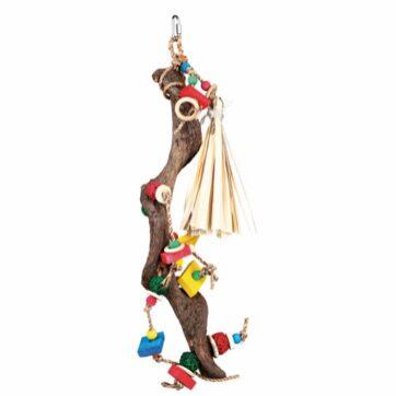 Fuglelegetøj i naturtræ 56 cm