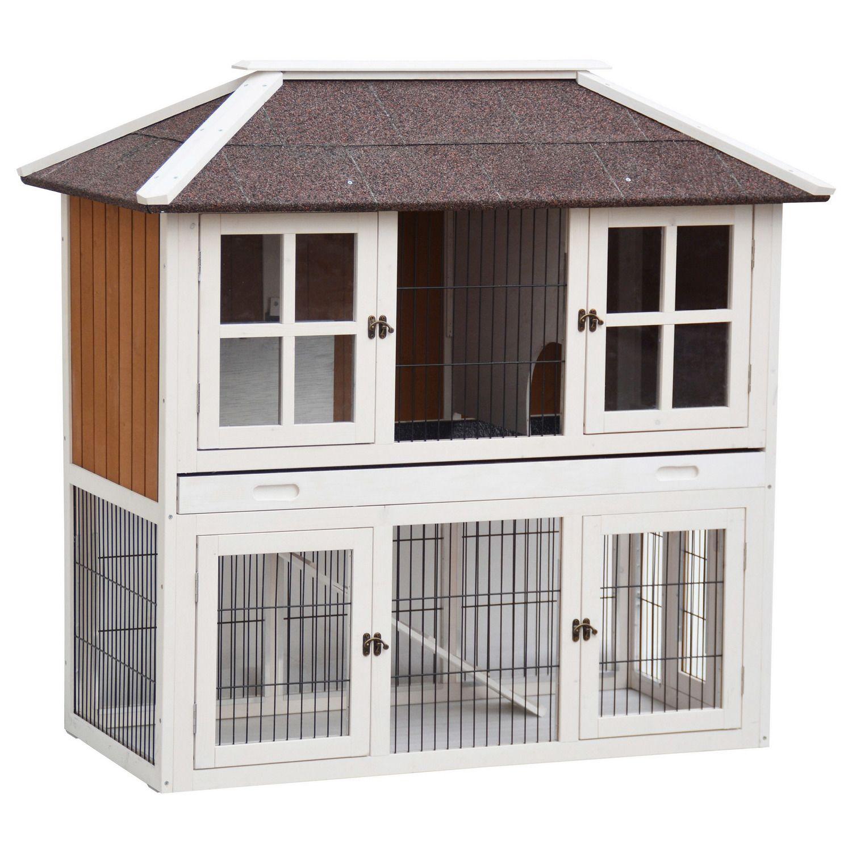 Udendørs kaninbur model PALACE