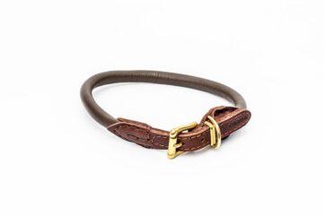 PARIS rundsyet læderhalsbånd 30 cm